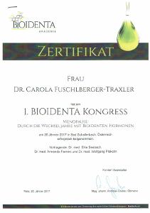 Zertifikat Bioidente Hormone