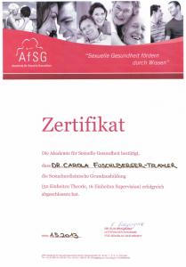 Zertifikat Sexualmedizin
